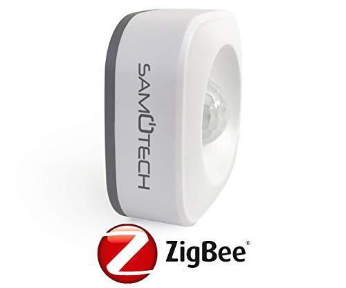 Zigbee 3.0 Sensor de Movimiento PIR para Zonas de bajo tr/áfico Compatible con Alexa Echo Plus