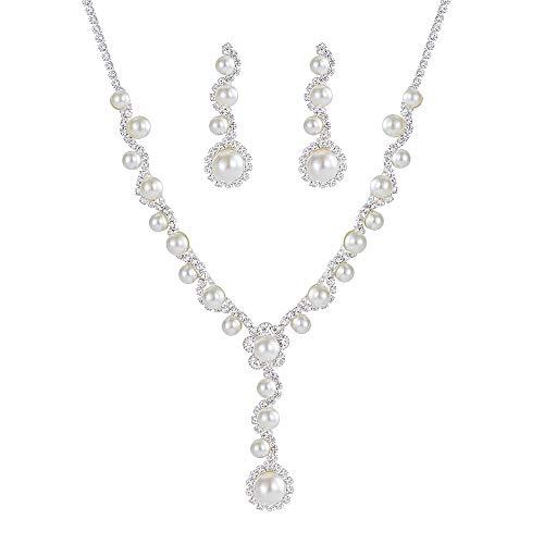 (Miraculous Garden Glamorous Crystal Rhinestone Beading Necklace Earrings Jewelry Set Wedding, Prom, Bridesmaids Mother Bride)
