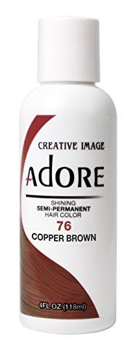 Adore Semi-Permanent Haircolor #076 Copper Brown 4 Ounce (118ml)