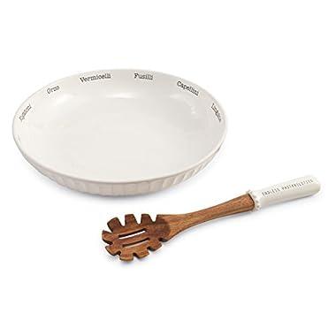 Mud Pie Circa Pasta Bowl Set, White