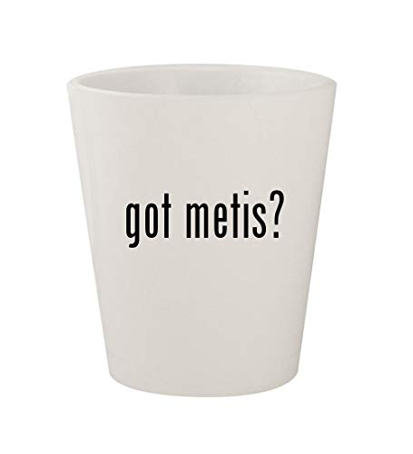 (got metis? - Ceramic White 1.5oz Shot Glass)