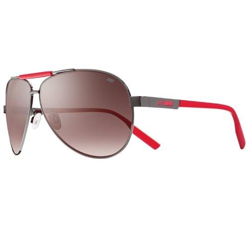 Nike MDL. 260 Sunglasses, Gunmetal/Hyper Red, Mauve Gradient - Mauve Gradient
