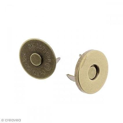 5 pcs Fermeture magn/étique /à griffes 14 x 2 mm Bronze Ronde
