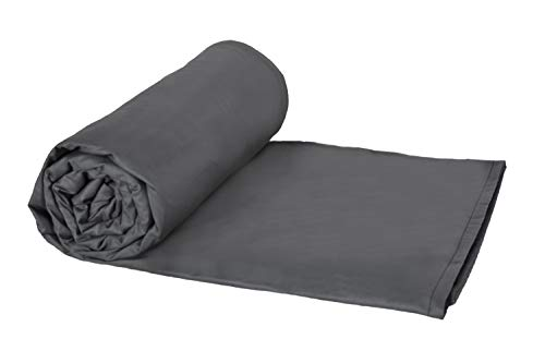Weighted Blankets Plus LLC - Made in USA - Adult Large Weighted Blanket - Smoke - Cotton/Flannel (72