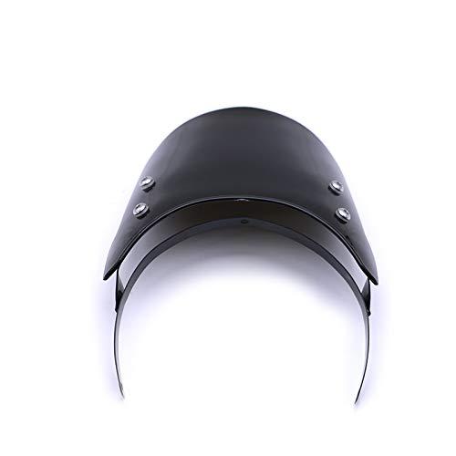 Noir Pare-brise de d/écoration de pare-brise de car/énage de phare pour Universal Royal Enfield Classic 500