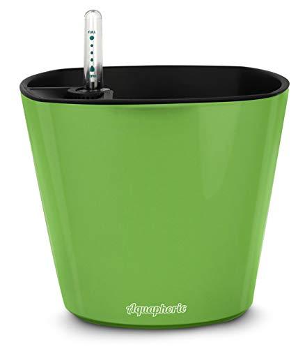 Aquaphoric Self Watering Planter (7) + Fiber Soil = Foolproof Indoor Garden. Decorative Planter Pot for House Plants, Flowers, Herbs, Violets, Succulents. Easy Looks Great.