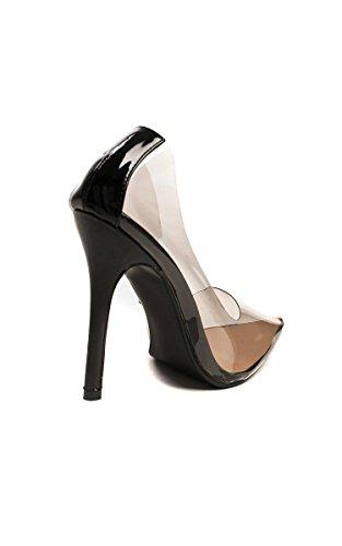 Ikrush Womens Mia Perspex Court Heels Black 6xWow