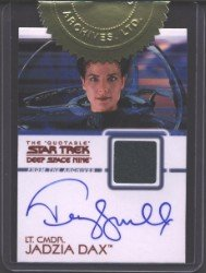 (Quotable Star Trek Deep Space Nine AC1 Terry Farrell Autograph Costume Card)