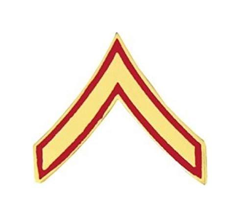 HMC Marine Corps Private First Class (PFC/E-2) Rank Insignia Pin - 14386 (5/8 inch)