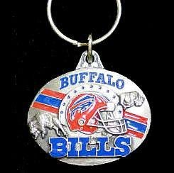 Siskiyou NFL Buffalo Bills Oval Carved Key Chain, Metal