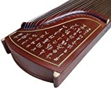 Authentic Dunhuang Guzheng - 694T - Rosewood Guzheng with Engraving and Bone Inlay-