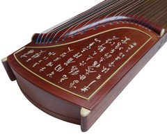Authentic Dunhuang Guzheng - 694T - Rosewood Guzheng with Engraving and Bone Inlay- ''Perfection Of Innocence'' by Dunhuang