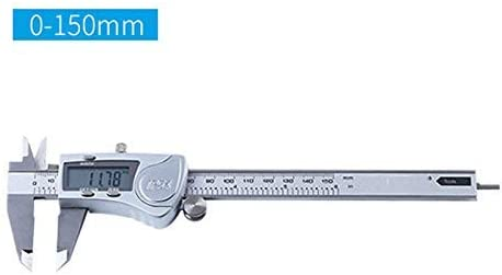 BXU-BG Electronic Digital Digital Display Vernier Caliper 0-150mm Industrial Grade Digital Caliper Stainless Steel High Precision Measuring Tool (Size : 0-150mm)
