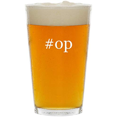 #op - Glass Hashtag 16oz Beer Pint