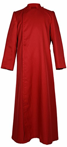 IvyRobes Unisex Adults pulpit(Clergy) cassock Medium Red 48