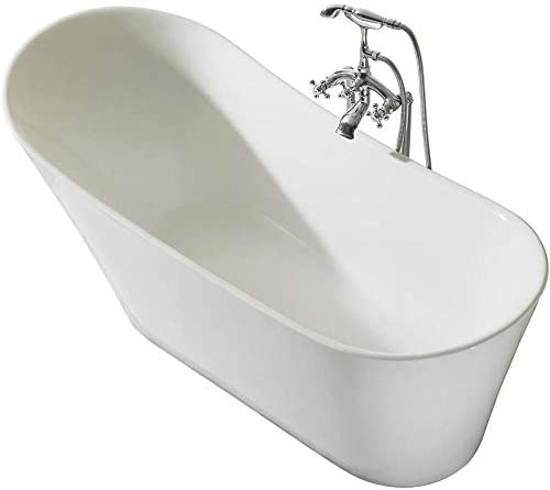 ARIEL Platinum PS114-6730 Paris 67 Inch x 30 Inch Freestanding Acrylic Bathtub