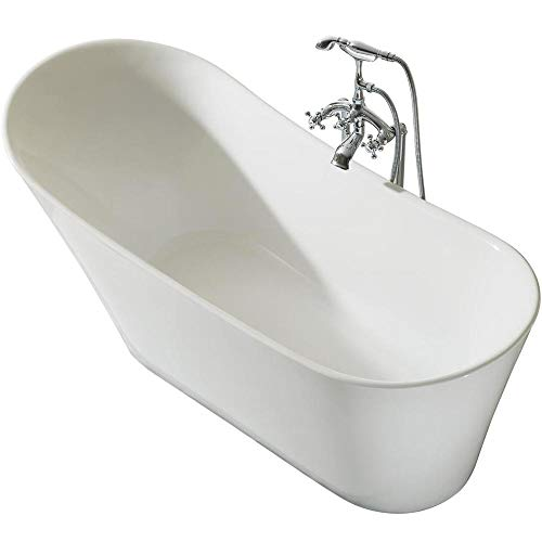 Cordelia UB114-6730 Freestanding Acrylic Bathtub 67 x 30 Inches