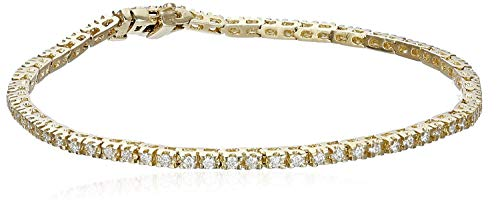IGI Certified 14k Yellow Gold Diamond Tennis Bracelet (1cttw, H-I Color, I1 Clarity), 7