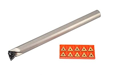 """Glanze SI-MTUNR 16-3D + TNMG 332 M3 G200 Indexable Boring Bar Kit with 10 Carbide TNMG Inserts, 12"""""""