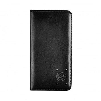 DIESEL ( ディーゼル ) iPhone 6 / iPhone 6s 手帳型 本革レザーケース ブラック カードポケット付 [並行輸入品]