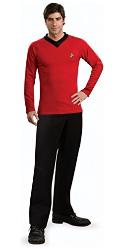 Star Trek Classic Red Shirt Deluxe Costumes (Deluxe Classic Shirt Adult Costume Red - X-Large)