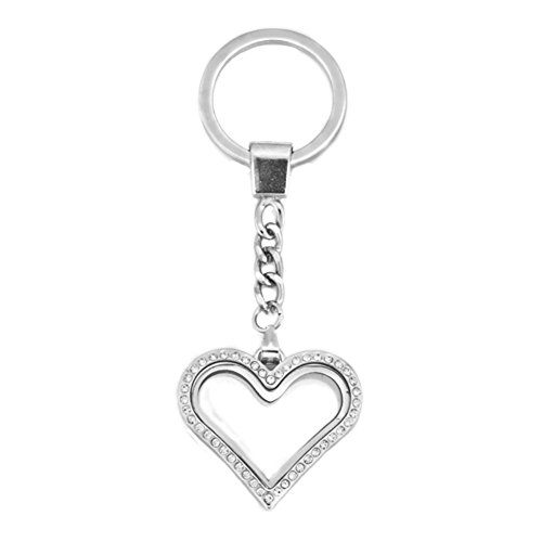 Chris Johnsons Glass Living Memory Locket Keychain Floating Charms Magnetic Key Ring (07) - Floating Ring Glass