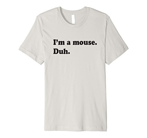 Mens I'm A Mouse. Duh. Halloween Costume T-shirt Small Silver