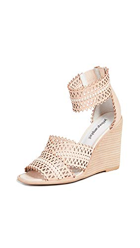 Jeffrey Campbell Women's Besante St Wedge Sandals, Natural, Tan, Off White, 6 M US