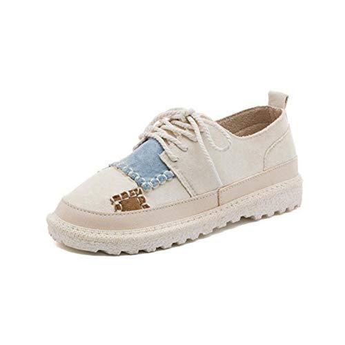 EU39 White de Size Coreana Zapatos Students los Color Salvajes 5 de versión CN40 Zapatos FH UK6 Street Off Lona w1ZHOO