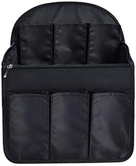 リュックインポケット バッグインバッグ リュック・デイバック 収納整理 男女兼用 バックインバック インナーバッグ 収納 小物整理 便利グッズ (Lサイズ-ブラック)