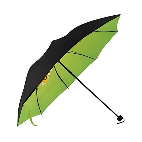 Repel Windproof Travel Umbrella Art Cartoon Cute Line Light Bulb Underside Printing Parasols Umbrellas Umbrella For Women Umbrella Travel With 95% Uv Protection For Women Men Lady - Parasol Bulb