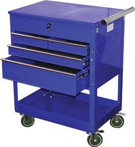 Atd 7047 Blue 4 Drawer Service Cart