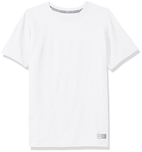 Russell Athletic Boys Essential Short Sleeve Tee, White, - Shirts Tee Athletic Russell