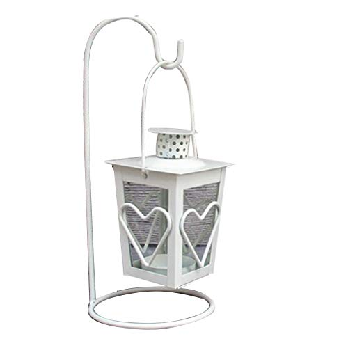 - RGBIWCO - Black/White Romantic Candle Holder with Hook Retro Hanging Lantern Lamp Decor for Dinner Home