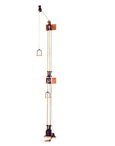 CanDo 10-0669 Chest Weight Pulley System, One Tower, Triplex Handle, Lower/Mid/Upper, 5 x 2.2 lb by Cando