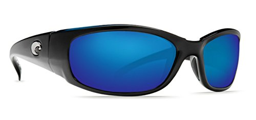 Mirror Wave 580 Glass (Costa Del Mar Sunglasses - Hammerhead- Glass / Frame: Shiny Black Lens: Polarized Blue Mirror Wave 580 Glass)