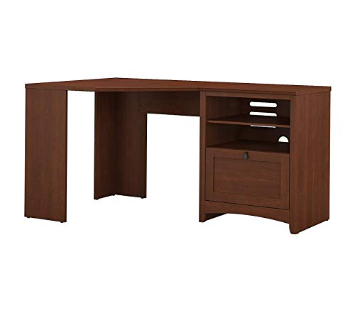 Office Home Furniture Premium Buena Vista 60W Corner Desk with Storage in Serene Cherry