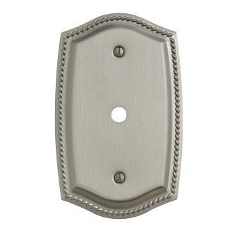 Baldwin 4790.150.CD Double Toggle Rope Design Switch Plate, Satin Nickel -