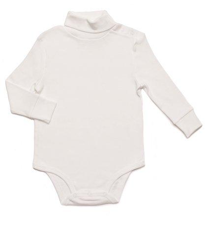 (Leveret Solid Turtleneck Bodysuit 100% Cotton (18 Months, Off)