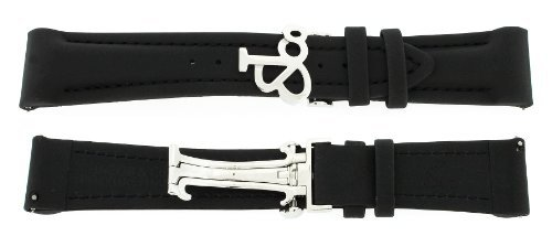Jacob & Co. Genuine Black Poly Rubber Short Band Strap 22SMM 47MM Watch