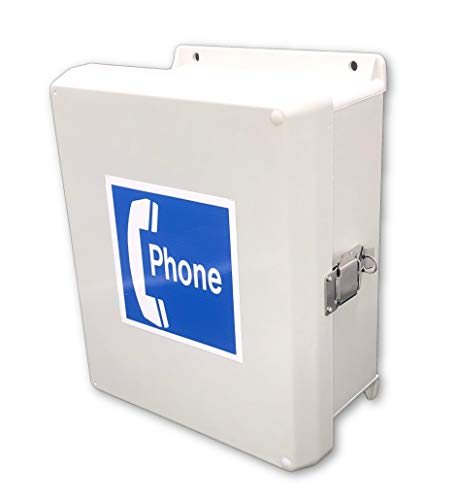 Outdoor Phone System - Waterproof Telephone Cabinet Call Box Weatherproof ()