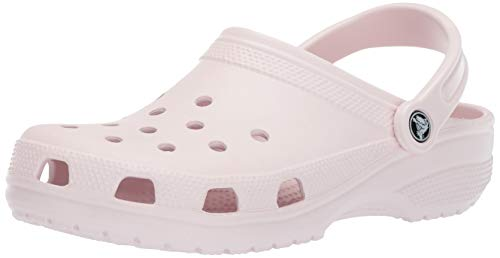 Crocs Classic Clog|Comfortable Slip On Casual Water Shoe, barely pink, 9 M US Women / 7 M US Men