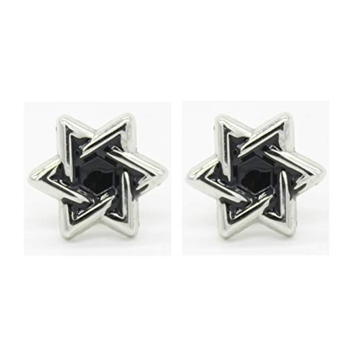 (SIYWINA Brooch Hexagonal Pin Six-Pointed Star Butterfly Needle Brooch)
