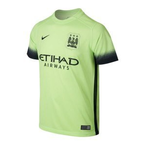 Nike Manchester City Kids Third Stadium Soccer Jersey (Ghost Green) Youth X-Large