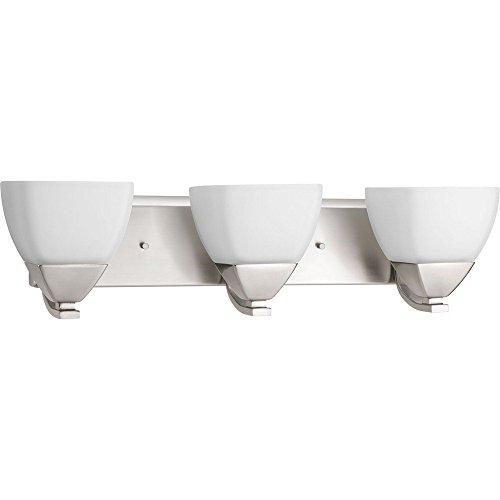 Progress Lighting P2702-09 Contemporary/Soft 3-100W Med Bath Bracket, Brushed Nickel