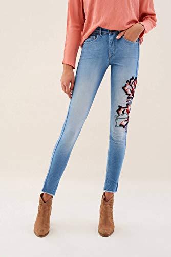 Glamour Capri Ricamo Salsa Con Secret Azzuro Jeans q4w4tEcS