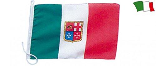 BANDIERA ITALIA CON STEMMA MARINA MERCANTILE 70 X 100 ACCESSORI NAUTICA
