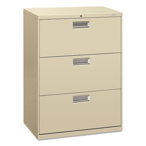 - 600 Series 30amp;quot;amp;quot; Wide 3-Drawer Lateral File, Putty (HON673LL)