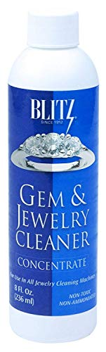 - Blitz 653 Gem & Jewelry Cleaner Concentrate, Tall Bottle of 8 Fluid Ounces, 1-Pack