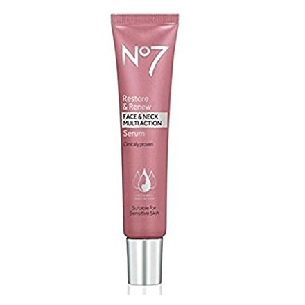 No7 Restore & Renew Face And Neck Multi Action Serum 50 Milliliter